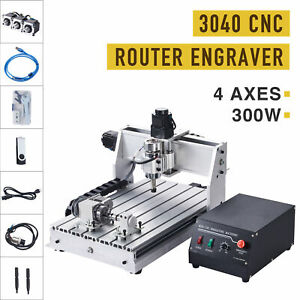 4 axis Cnc Router Engraving Milling Cutting Machine W Rotary Axis Wood More