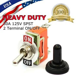 Toggle Switch On off Heavy Duty 15a 125v Spst 2 Terminal Car Boat Waterproof Org