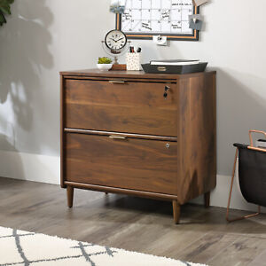 Lateral File Cabinet Home Office Furniture Drawers Storage Grand Walnut Finish