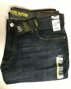 LEE Men#x27;s Big amp; Tall Straight Leg Jeans Size 46 x 32 or 48 x 30 NEW MSRP $72.00 $43.99