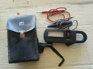 Vintage Sperry 300 Snap 8 Ohm Ammeter 1972 Leather Case Wires