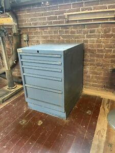 Used Lista 5 Drawer Cabinet Industrial Tool Shop Storage Under Bench Height