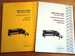New Holland 268 Hayliner Baler Operator s And Parts Manual Catalog Book Nh