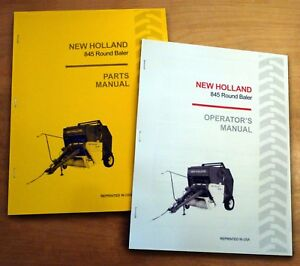 New Holland 845 Round Baler Operator s And Parts Manual Catalog Book Nh