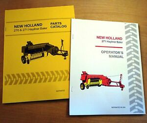 New Holland 271 Hayliner Baler Operator s And Parts Manual Catalog Book Nh