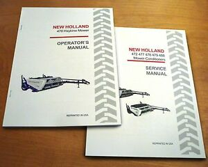 New Holland 478 Haybine Mower Conditioner Operator s And Service repair Manual