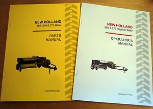New Holland 269 272 Hayliner Baler Operator s And Parts Manual Catalog Book Nh