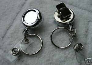 Mini Retractable Reel Key id badge Hold Belt Clip Chain