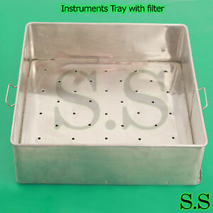 Instruments Tray With Filter Surgical Hollowware Insts