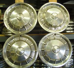 Vintage Classic Antique 1966 66 Ford Falcon Hubcaps Wheel Covers Center Caps
