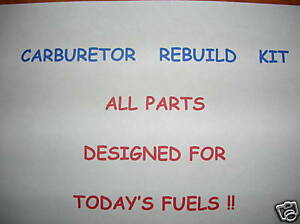 Edelbrock Off Road Carburetor Rebuild Kit Todays Fuel 3 480