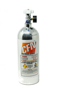 5lb Nitrous Bottle W high Flow Valve Gauge Polished