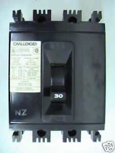 Challenger Type Ne Circuit Breaker 3pole 30amp 240v New