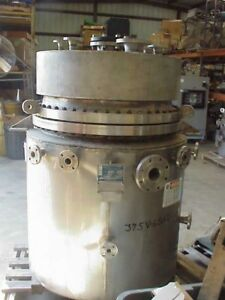 200 Gallon Jacketed Stainless Steel Reactor Tank Pedricktown Nj 150 fv 375f