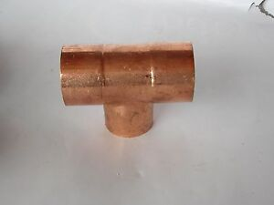 Nos 3 Copper Tee Plumbing For Water Or Refrigeration