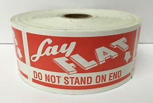 500 Labels 2x4 Lay Flat Do Not Stand On End Mailing Shipping Rolls