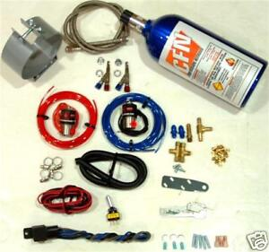 Motorcycle Nitrous Oxide Wet Kit Twin Throttle Body Fuel Injected Nos Kit New
