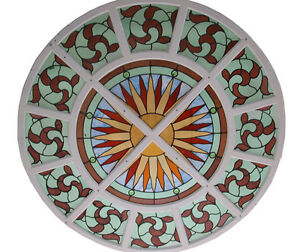 Stained Glass Window Round 4817b