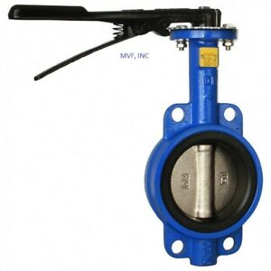 Butterfly Valve 3 Wafer Style 200 Wog Ductile Body Bronze Disc Buna Rubber Seat