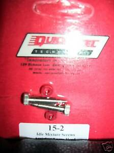 Holley Carburetor Stainless Idle Mixture Screws Quick Fuel 15 2