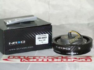 Nrg Thin Steering Wheel Quick Release Black Carbon