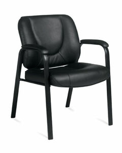 Leather Guest Ergonomic Office Desk Chair free Shipping