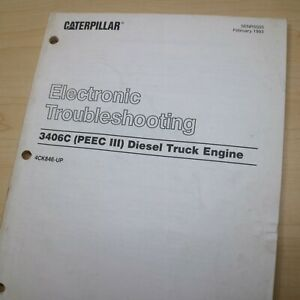 Cat Caterpillar 3406c Truck Engine Troubleshooting Repair Manual Service Diesel