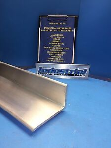 6061 T6 Aluminum Angle 3 X 5 X 60 long X 1 4 Thick