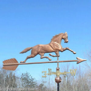 Massive 52 Copper Horse Weathervane Made In Usa 197