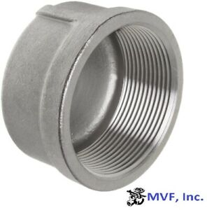 Cap 150 304 Stainless Steel 4 Npt Pipe Fitting 846 wh