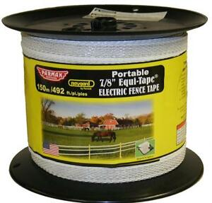 Parker Mccrory 681 7 8 In 492 Ft Heavy Duty Electric Fence Tape White