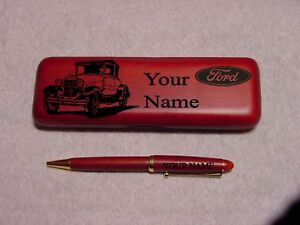 30 Ford Model A Spt Coupe Rosewood Pen Case Engraved