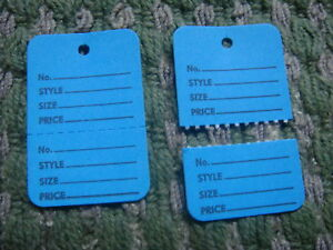 Clothing Price Tagging Tag Tagger Gun Hang Label Blue