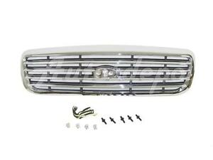 For 1998 2011 Crown Victoria Bar Type Grille Chrome With Black Insert Fo1200346