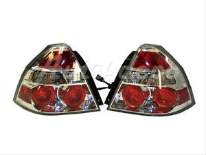 For 07 08 Chevy Aveo Sedan Taillight Tail Lamp W bulb Set 2
