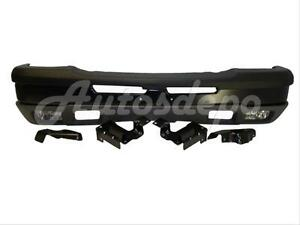 Bundle For 03 04 Silverado 1500 Front Bumper Blk Cap Valance Fog Light Bracket
