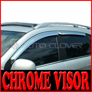 Chrome Window Visors Vent 4p For 2008 2010 Chevy Holden Captiva
