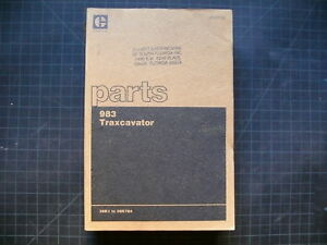 Cat Caterpillar 983 Traxcavator Parts Manual Book Shop Track Loader Crawler Oem