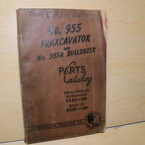Cat Caterpillar 955 Traxcavator Parts Manual Book List Track Loader Crawler 12a
