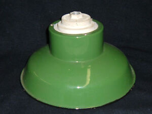 Porcelain Green Enamel Industrial Light Fixture 3053