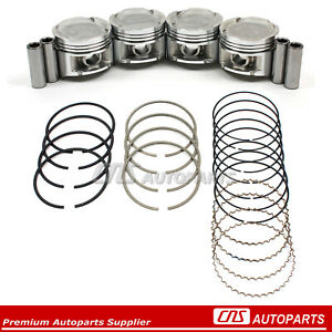 For 92 95 Honda Civic Vtec 1 6l D16z6 P28 Gas Nitrided Steel Pistons