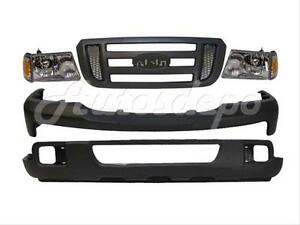 For 06 07 Ford Ranger Bumper Txt Grille Blk Headlight 7pc