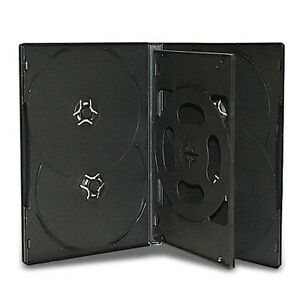 50 Six Discs Multi Disc Black Cd dvd Case Hold 6 Disc