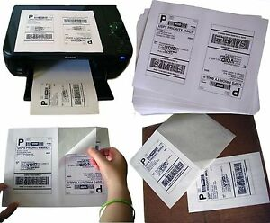 1 600 Half sheet Internet Shipping Labels For Ebay usps