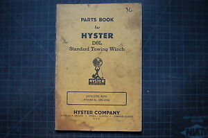 Hyster D8l Dozer Tractor Towing Winch Parts Book Manual Cat Catalog List Owner