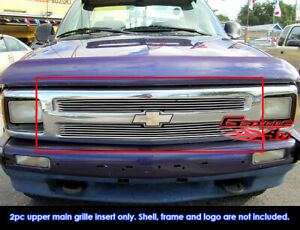 Fits 1994 1997 Chevy S 10 S10 Pickup Billet Main Upper Grille Insert