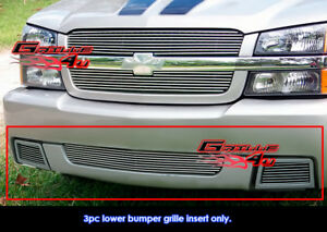 Fits 2003 2006 Chevy Silverado 1500 Ss Billet Grille Combo