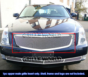 Fits 2006 2010 Cadillac Dts Stainless Mesh Main Upper Grille Insert