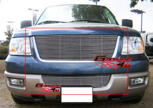 Fits 2003 2006 Ford Expedition Billet Grille Combo Insert