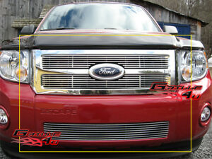 Fits 2008 2011 Ford Escape Billet Grille Combo Insert